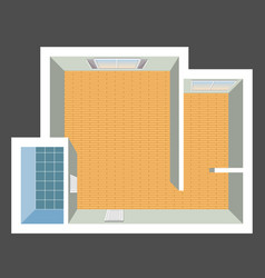 Architectural color floor plan vector