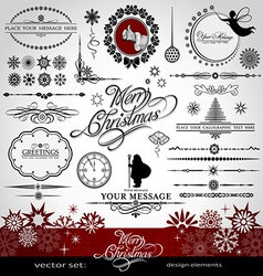 Christmas and New Year decorative set vector image