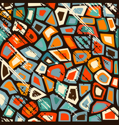 Grunge vintage mosaic vector