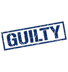 Guilty stamp vector