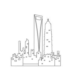Isolated shanghai cityscape vector
