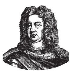 John churchill duke of marlborough vintage vector