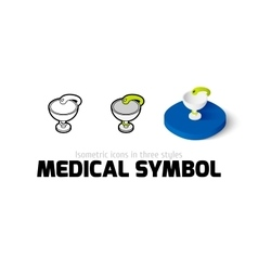 Medical symbol icon in different style vector image