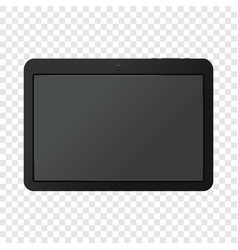 Modern portable touch pad device mockup vector