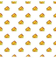 One storey house pattern cartoon style vector