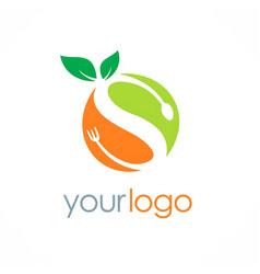 organic fuit letter s logo vector image