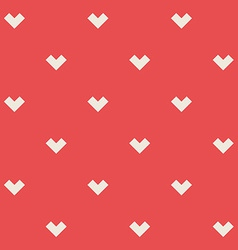 Romantic seamless pattern with stylized hearts vector image