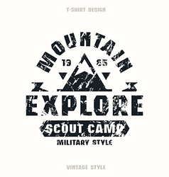 Scout camp badge vector
