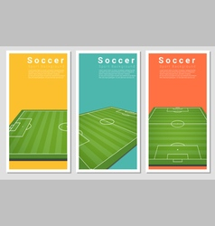 Set of football field graphic background 3 vector