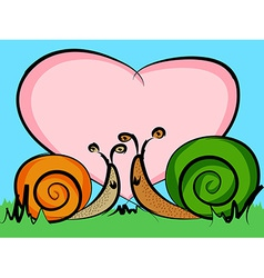 Snails in love vector