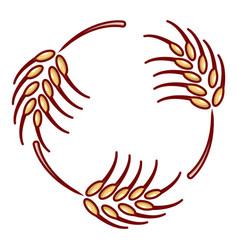 Solar wheat icon cartoon style vector