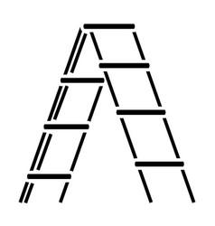 Stairs garden icon black vector