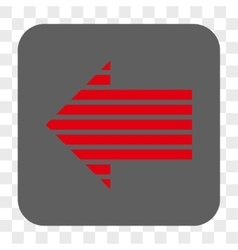 Stripe arrow left rounded square button vector