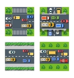 Traffic transportation set vector
