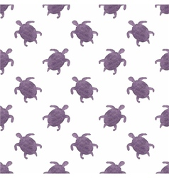 Watercolor seamless pattern with turtles on the vector