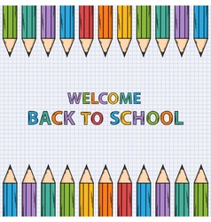Welcome back to school bacground vector