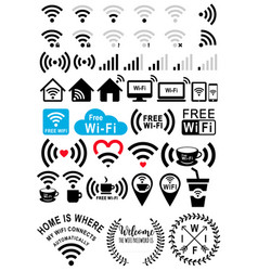 Wi-fi signs set vector