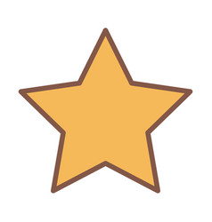 Yellow star award element cartoon icon vector