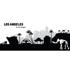 Los Angeles skyline vector image
