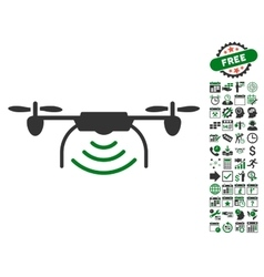 Radio transmitter airdrone icon with bonus vector