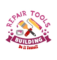 Repair work tools sign vector image