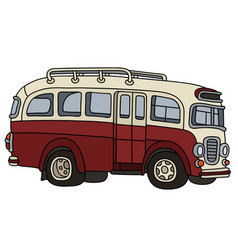 funny old red bus vector image