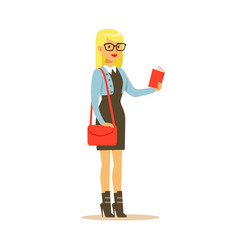 Student lifestyle colorful character vector