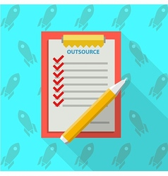 Flat of clipboard for outsource vector