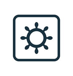 Ship wheel icon rounded squares button vector