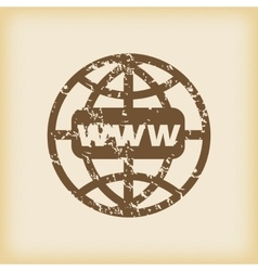 Grungy global network icon vector