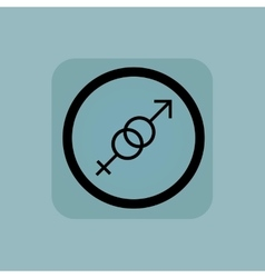 Pale blue gender sign vector