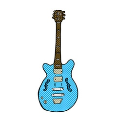 Comic cartoon electric guitar vector