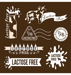 Lactose free elements vector