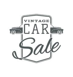 Vintage classic car sale label template vector image