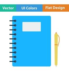 Flat design icon of exercise book vector