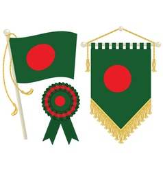 Bangladesh flags vector