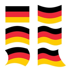 Germany flag set of flags of german republic in vector