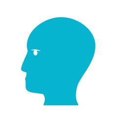 Blue human head idea icon vector