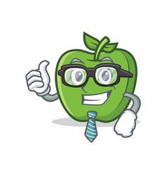 Businessman green apple character cartoon vector