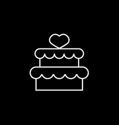cake with hearth icon vector image