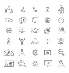 Ceo 30 line icons vector