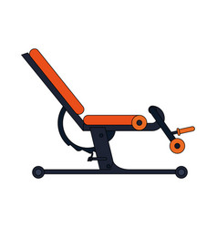 Colorful cartoon gym machine for exercises vector