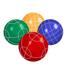 colorfull bocce balls made of metal or plastic vector image vector image