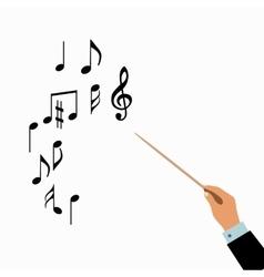 Conductor hands concept vector