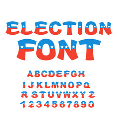 Election font political debate in america vector