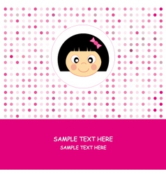 face baby girl vector image vector image