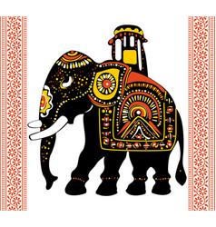festive indian elephant vector image vector image