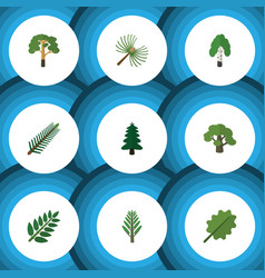 Flat icon ecology set of wood tree park and vector