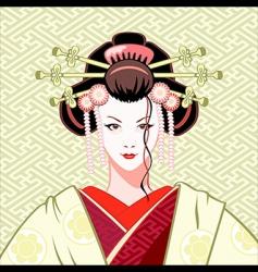 geisha modern vector image vector image
