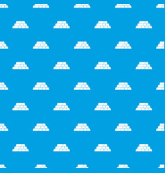 Gold bars pattern seamless blue vector